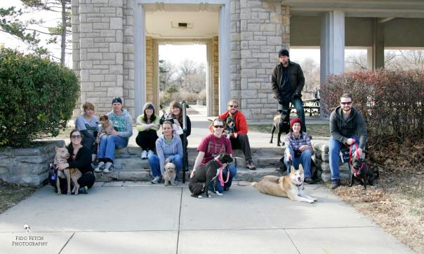 KC Pittie Pack & Friends at Loose Park. Photo by Fido Fetch Photography.