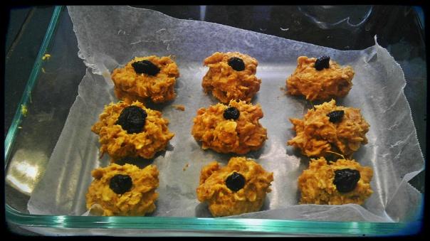 No bake sweet potato cookies.