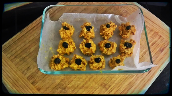Small no-bake sweet potato dog treats.