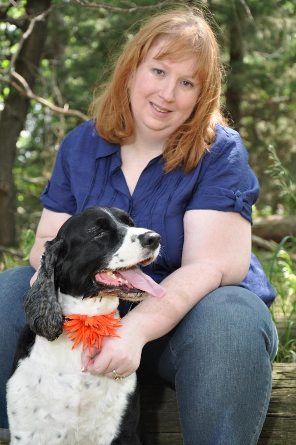 Shawn Timm and her dog Dulcie.