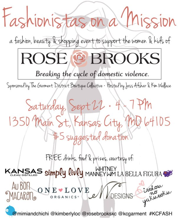fashionistas on a mission event flyer