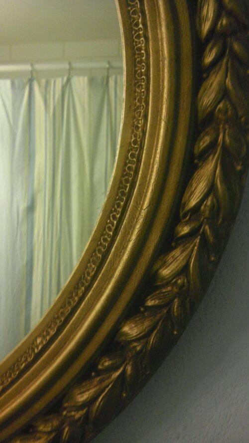 Antique gold mirror frame