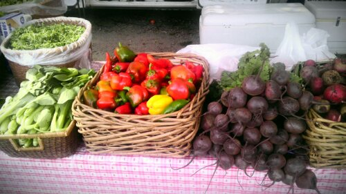 fresh produce at Old Cheney Road Farmers' Market