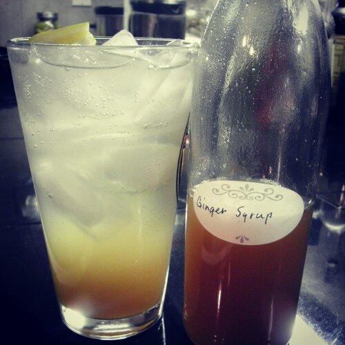 Lemon Vodka Gingerade and Ginger Syrup