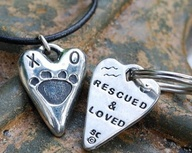 rescued and loved pendant by toby and max