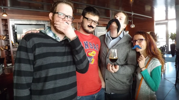 I took the camera to a gathering of the Kansas City Fake Mustache Club.