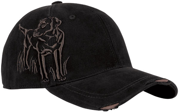 Dri Duck black lab embroidered cap